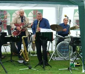Jazz band at Billing Parish Fayre