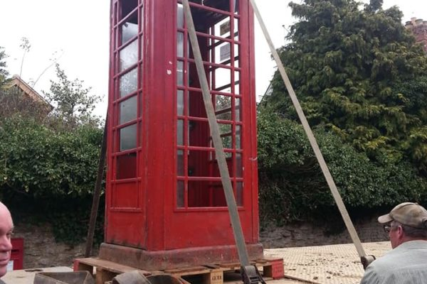 phonebox being delivered